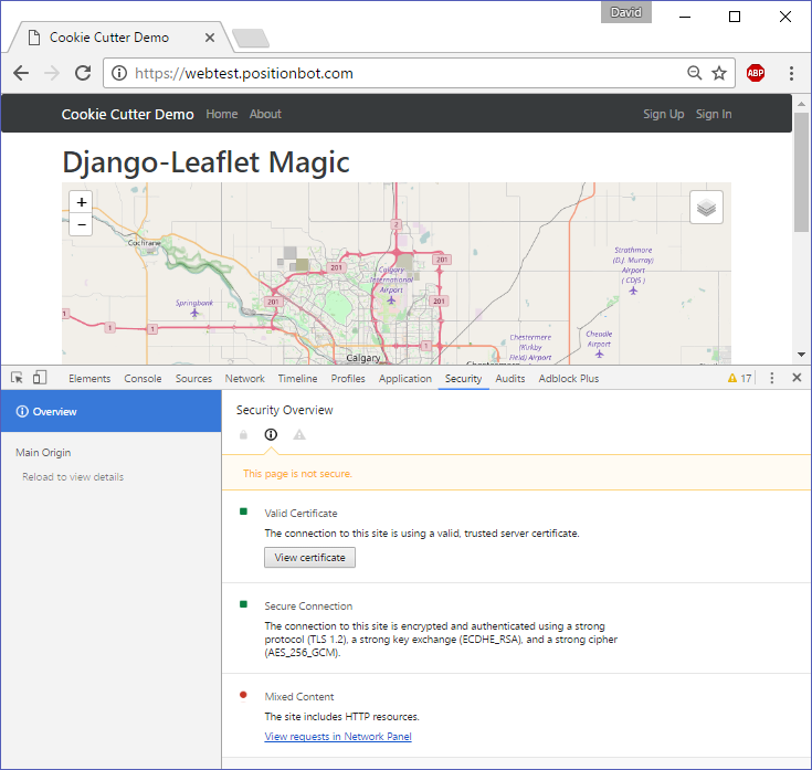 Serving web maps from our django site – GeoAnalytic – Web